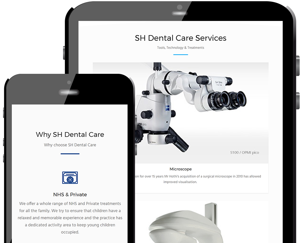 SH Dental Care Home Page